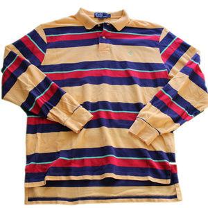 Vintage Polo Long Sleeve Shirt Multicolor Stripes